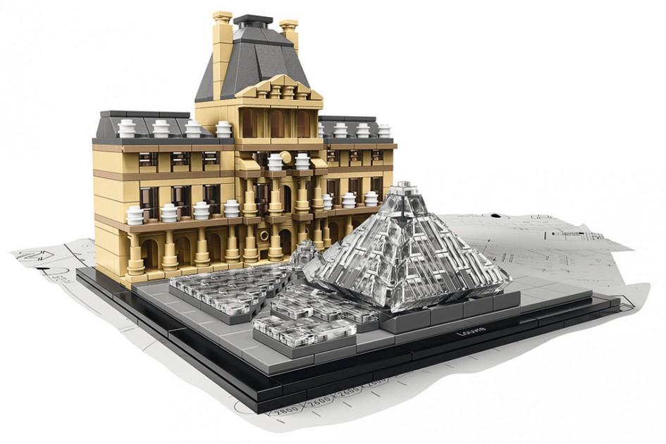 Der Pariser Louvre als LEGO Architecture Modell | © LEGO Group