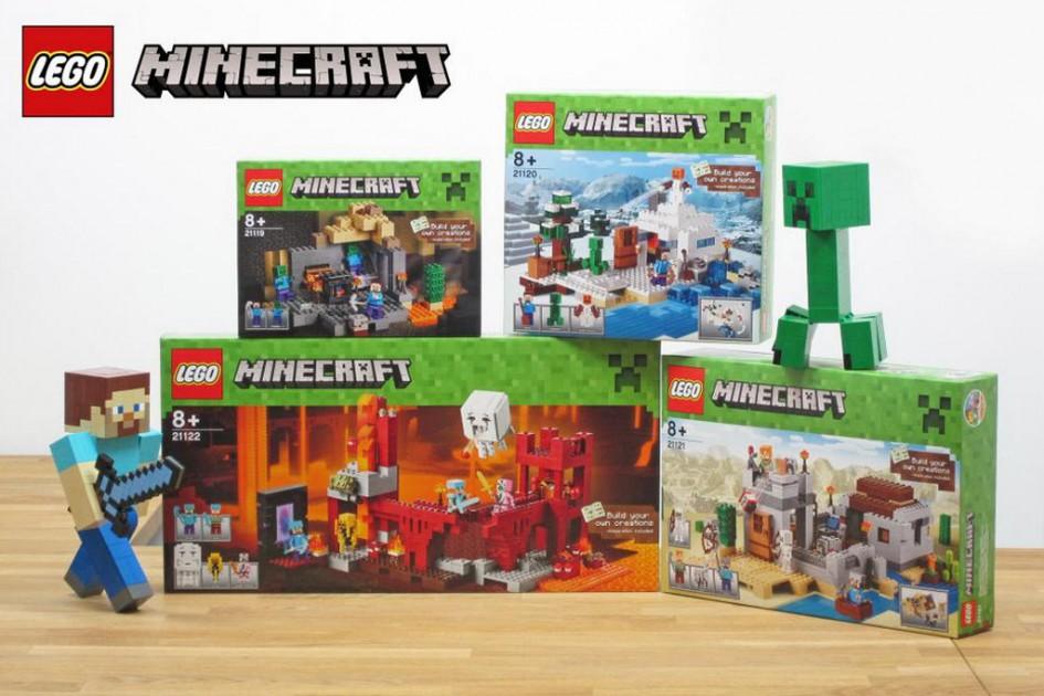 neue lego minecraft sets im anflug zusammengebaut. Black Bedroom Furniture Sets. Home Design Ideas