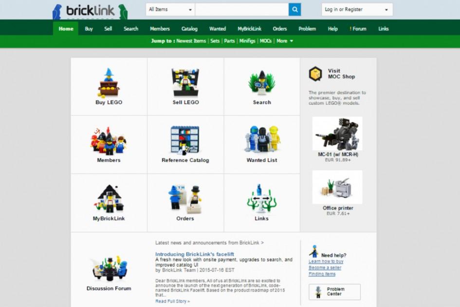 Ein Platz der Steine | © Screenshot BrickLink.com