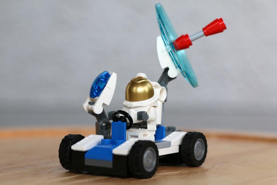 Das kleine Mondfahrzeug ist startklar! | © Andres Lehmann
