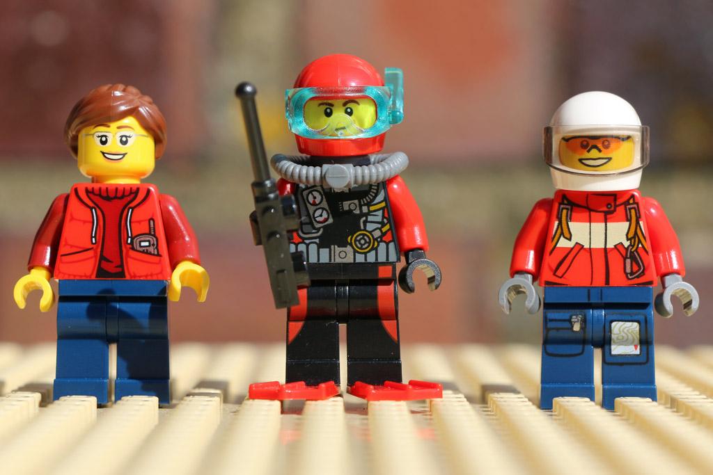 Tiefsee-Set mit drei Minifiguren   © Andres Lehmann