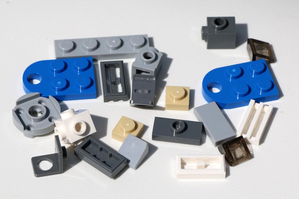 Aus diesen Steinen lässt sich ein Slave I Miniaturmodell erstellen. | © Andres Lehmann