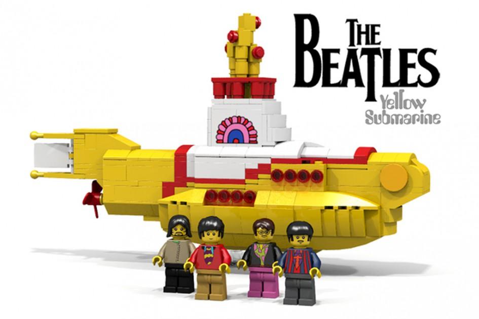 Die Beatles und ihr gelbes Unterwasserboot | © kevinszeto/ Lego Ideas