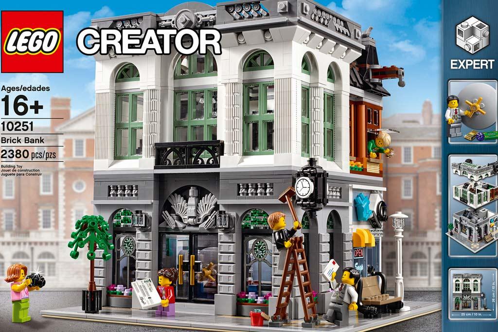 lego brick bank offiziell vorgestellt neues modulares geb ude zusammengebaut. Black Bedroom Furniture Sets. Home Design Ideas