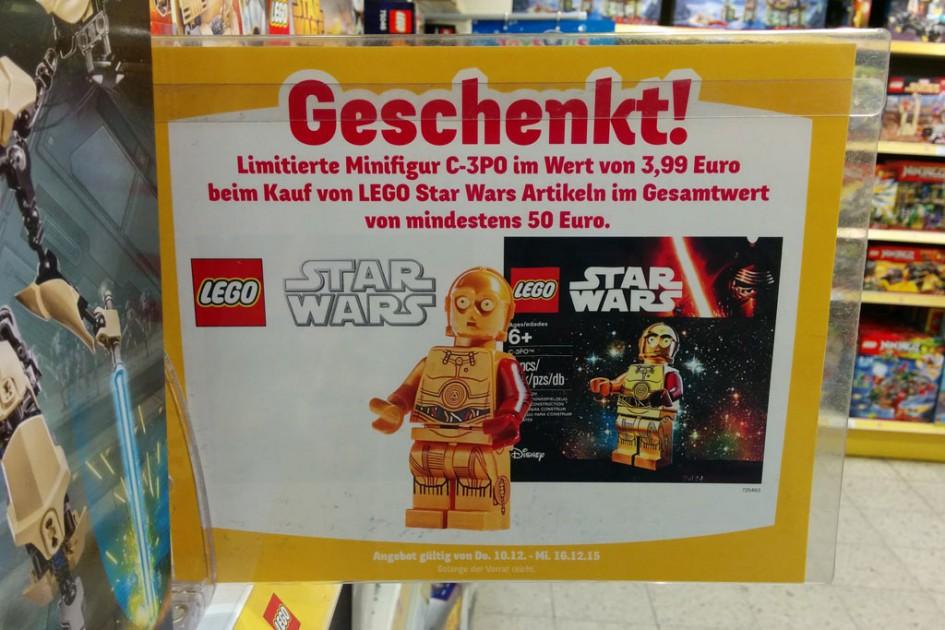 Lego Star Wars C-3PO Minifigur | © Andres Lehmann