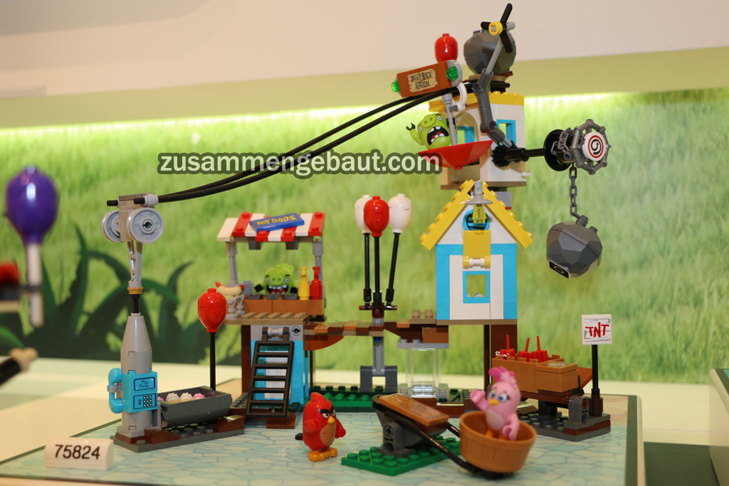 Toy Fair 2016 Lego Angry Birds Sets And Figures On Display In Nuremberg Zusammengebaut