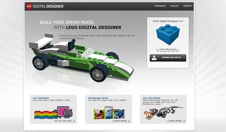 Lego Digital Designer Website | © LEGO Group
