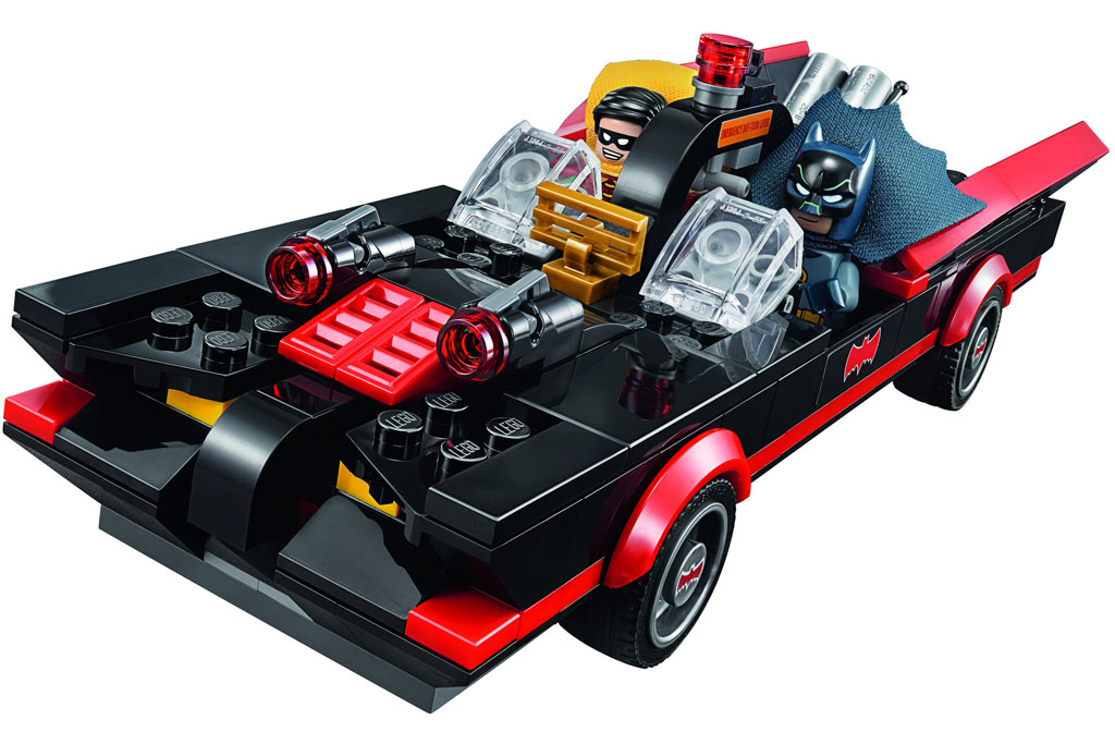 Batman und Robin kommen im kultigen Batmobil angedüst! | © LEGO Group