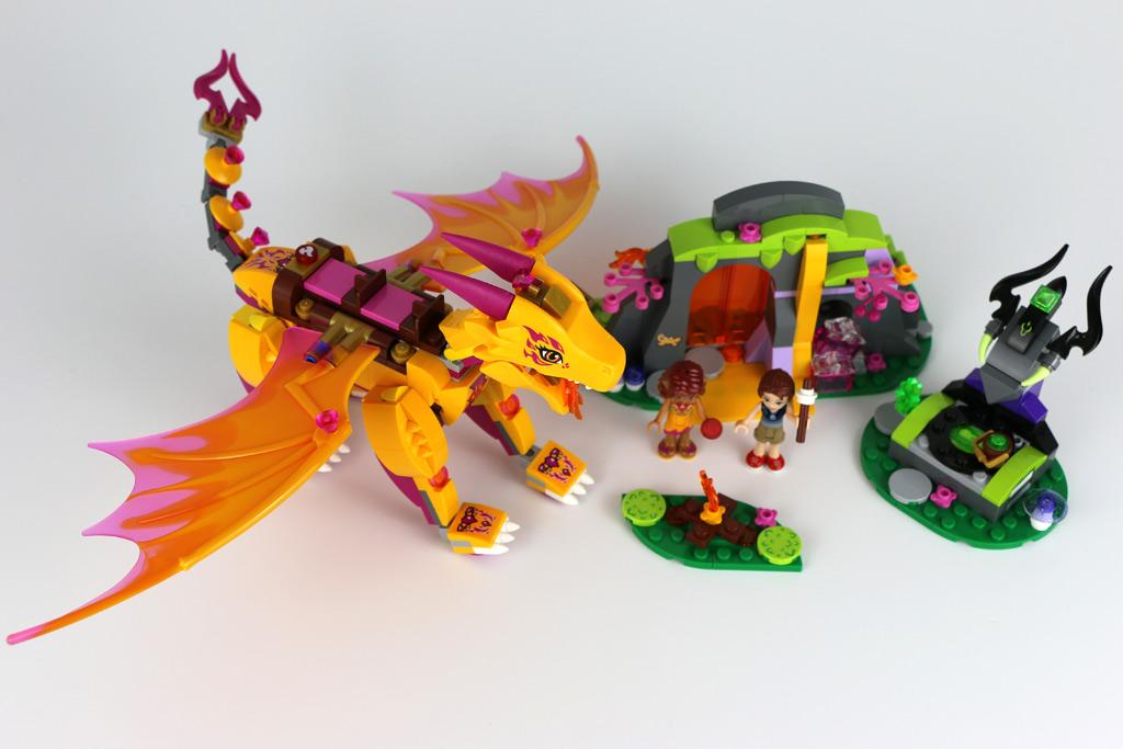 Ausmalbilder Lego Elves Drachen: Lego Elves 2016: Lavahöhle Des Feuerdrachens Im Feurigen