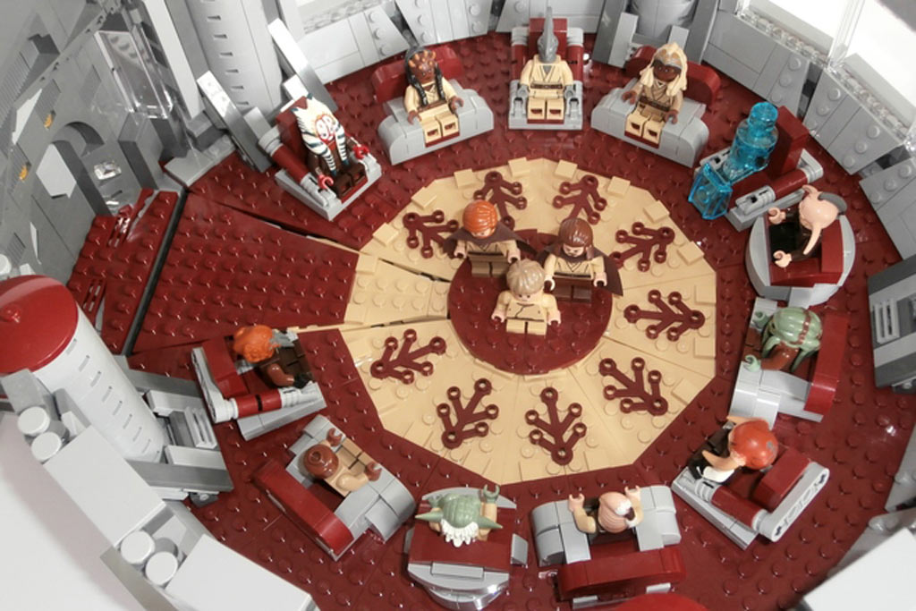 Lego Ideas: Star Wars  Jedi High Council Chamber | © lojaco / Lego Ideas