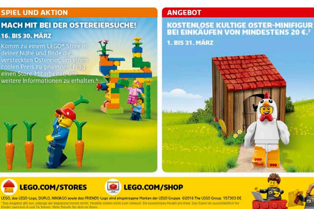 Lego Store im März: Ostereiersuche und Oster-Minifigur | © Andres Lehmann / zusammengebaut.com
