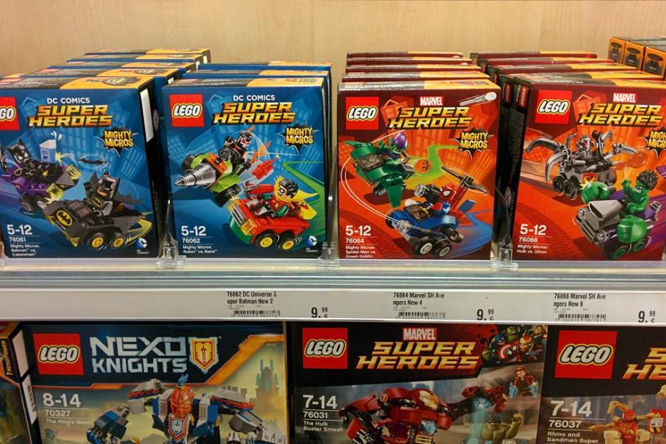 Die Lego Super Heroes Mighty Micros sind im Handel gelandet.   © Andres Lehmann / zusammengebaut.com