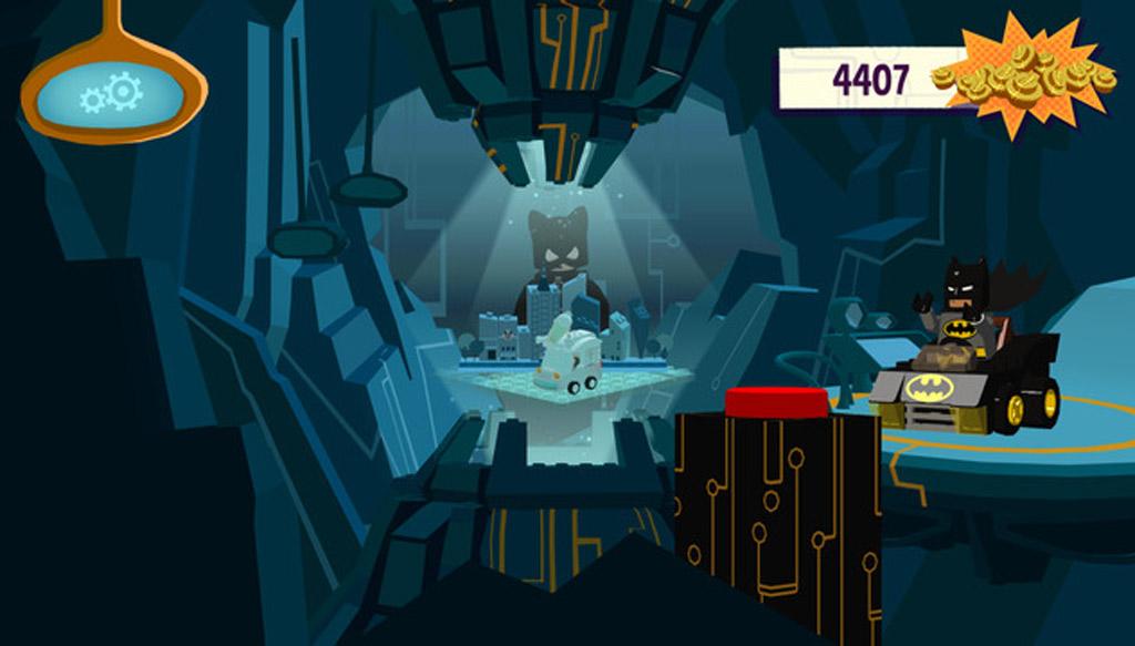 Settings und Rennauswahl in der Bathöhle | © LEGO Group