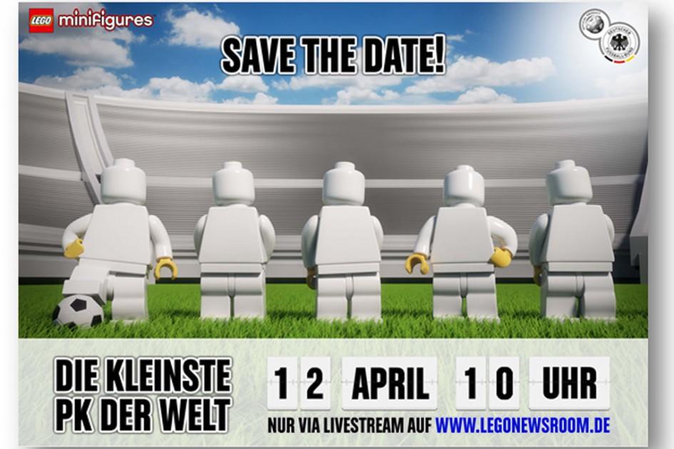 """Lego Minifiguren: """"Deutsche Nationalmannschaft"""" läuft auf!   © LEGO GmbH"""