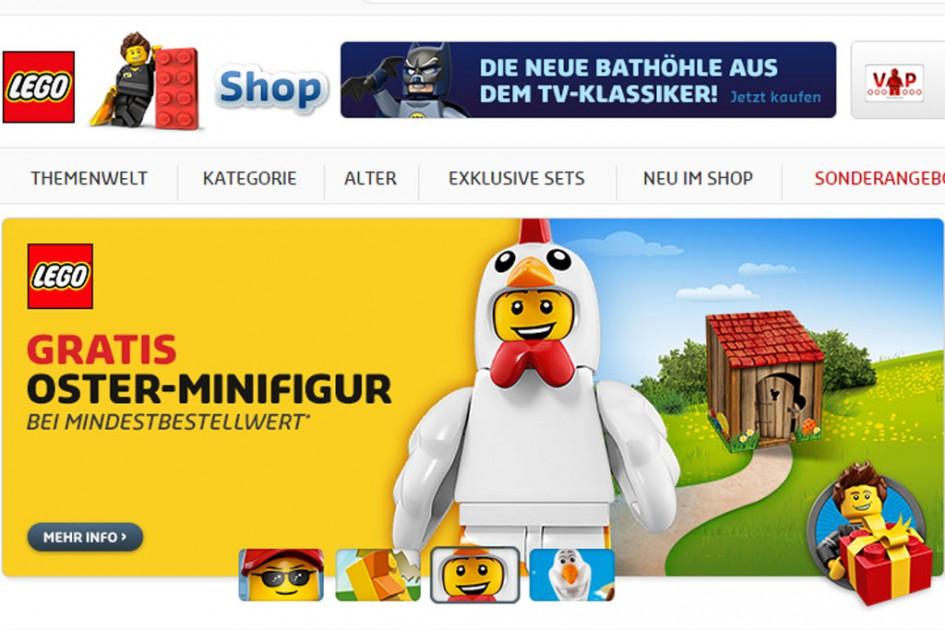 Shoppen vor Ostern: Lego lockt mit doppelten Punkten und Oster-Minifigur | © Screenshot lego.de