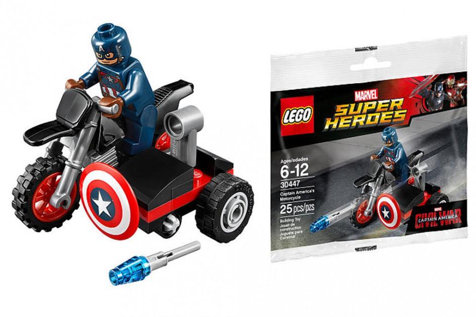 Captain America und sein Mottorad | © LEGO Group