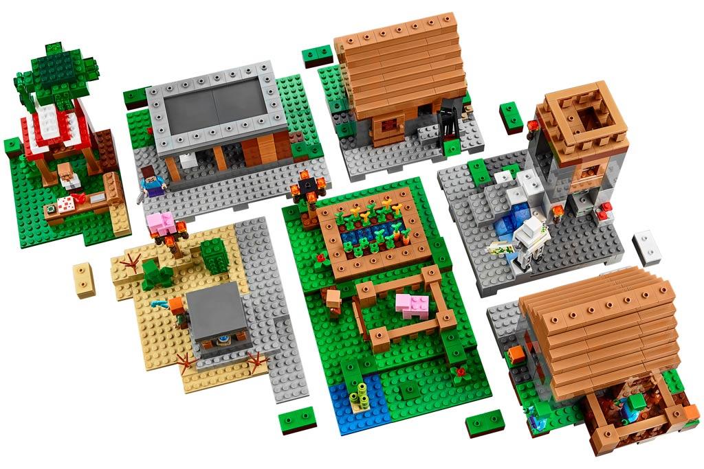 Lego minecraft das dorf