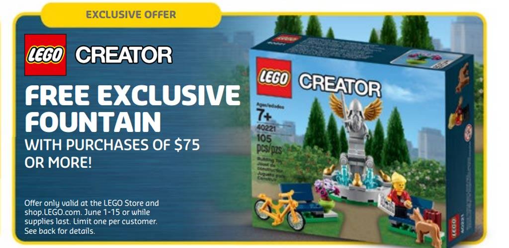 Lego Creator Fountain (40221): Es sprudelt hierzulande ab 55 Euro! | © LEGO Group
