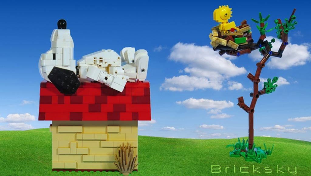 Snoopy & Woodstock | © LEGO Group