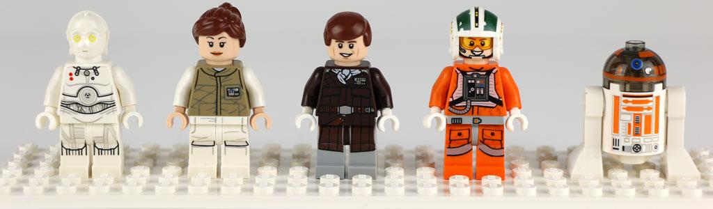 K-3PO, Toryn Farr, Han Solo, Was Janson, R3-A2 | © Andres Lehmann / zusammengebaut.com