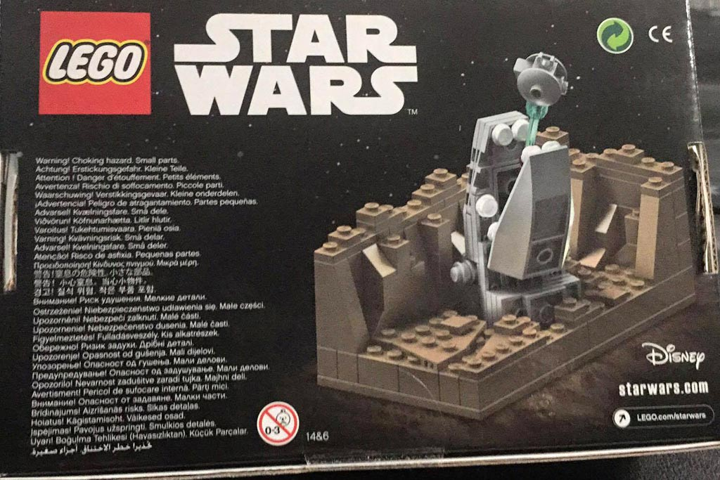 Rückseite der Box: Lego Star Wars Escape the Space Slub | © Claus-Marc Hahn