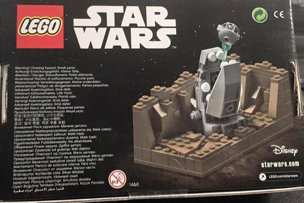 Rückseite der Box: Lego Star Wars Escape the Space Slub | © Claus-Marc Hahn