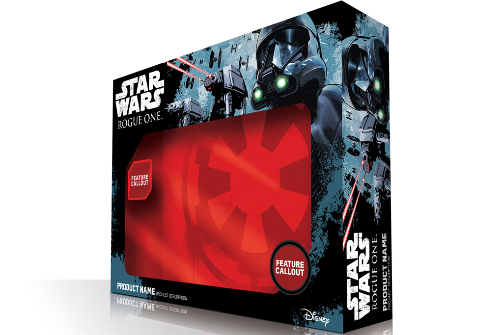 """Rogue One: A Star Wars Story"" - Produkt-Verpackung 