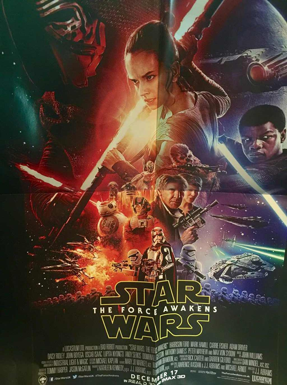"Poster zu ""The Force Awakens"" | © Claus-Marc Hahn"