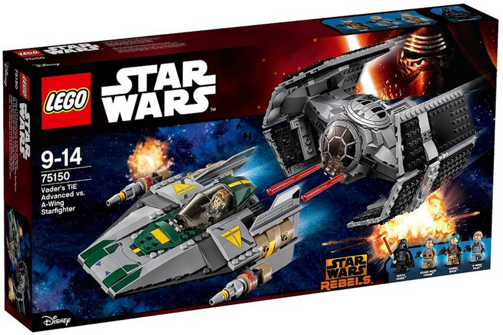 Vader's TIE Advanced vs. A-Wing Starfighter (75150)   © LEGO Group