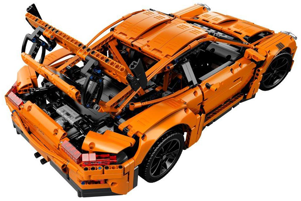 lego technic porsche 911 gt3 rs 42056 lego ver ffentlicht detailbilder zusammengebaut. Black Bedroom Furniture Sets. Home Design Ideas