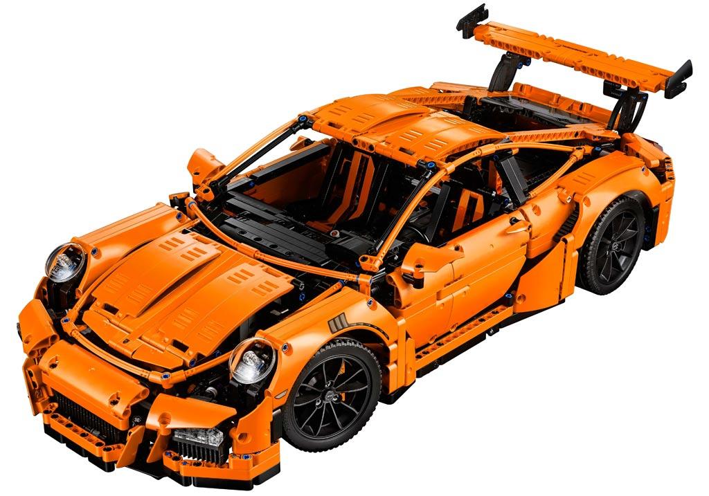 lego technic porsche 911 gt3 rs 42056 orange or. Black Bedroom Furniture Sets. Home Design Ideas