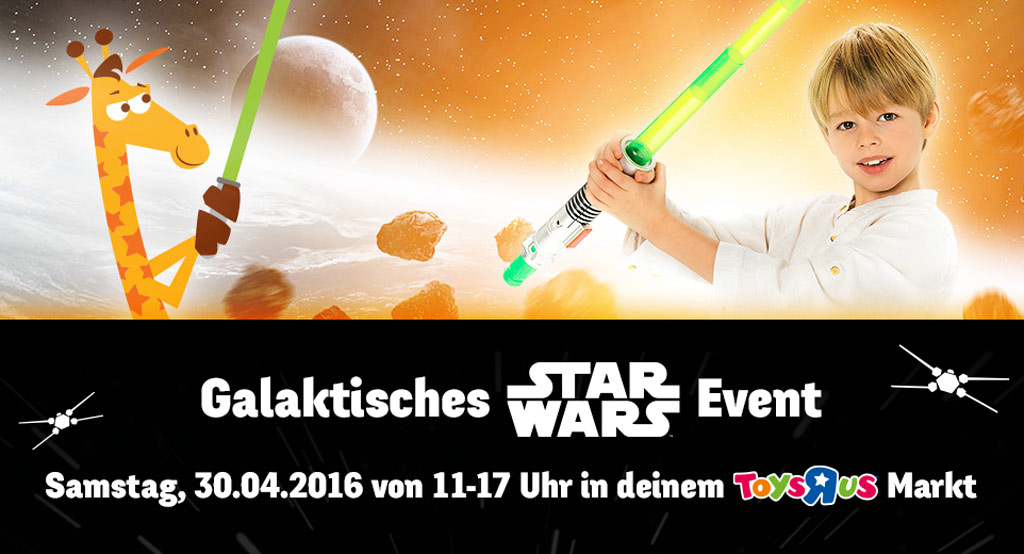 Galaktisches Star Wars Event bei Toys'R'Us | © Toys'R'Us