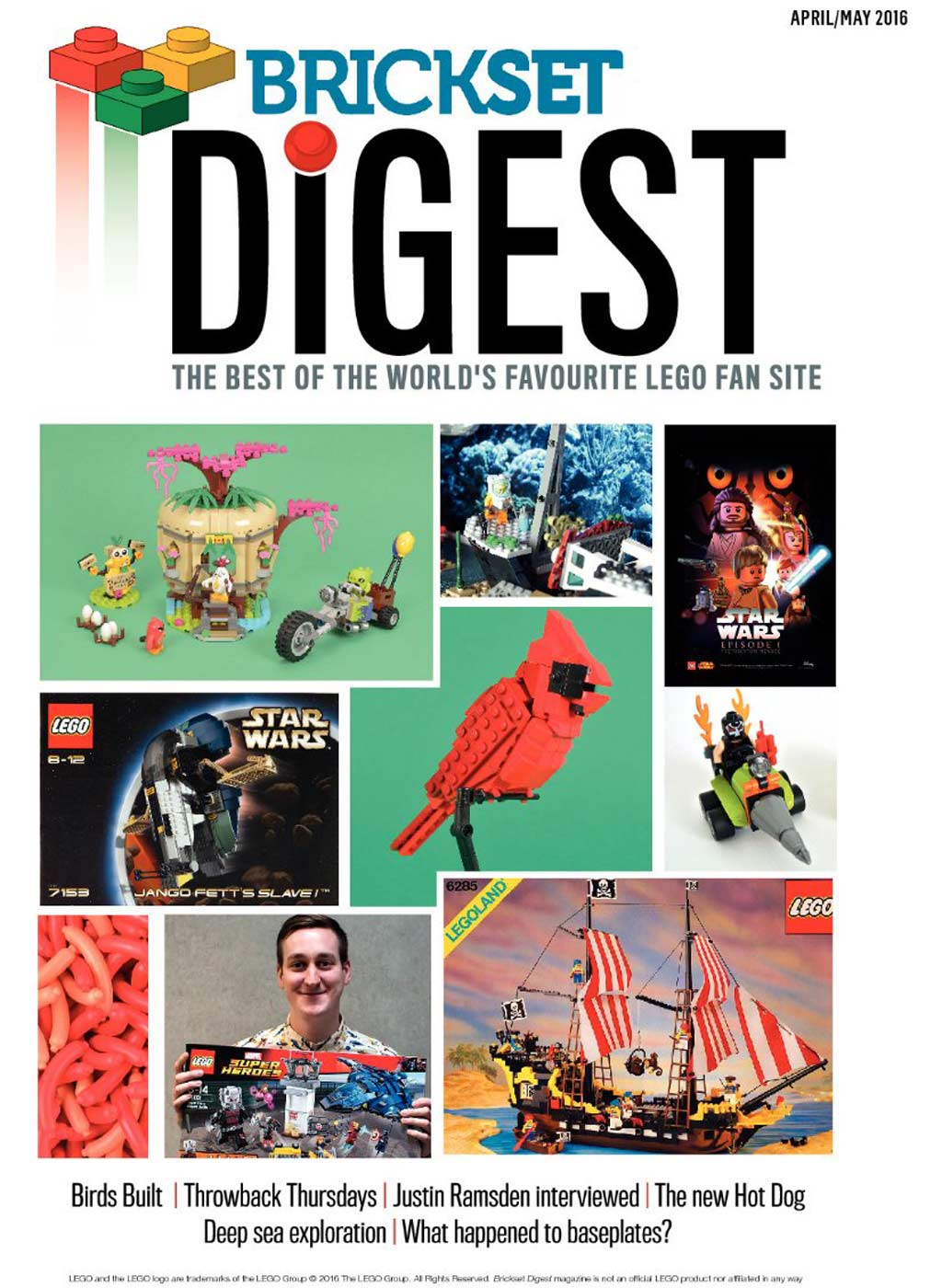 Brickset Digest: Cover April-Mai-Ausgabe | © Brickset