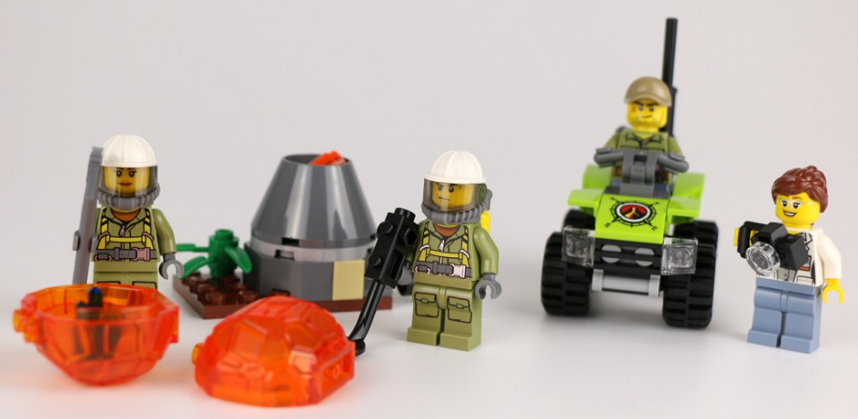 Lego City Vulkan Starter-Set (60120) | © Andres Lehmann / zusammengebaut.com