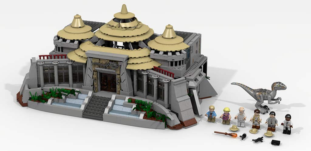 Jurassic Park Visitor Center  | @ LDiEGo / Lego Ideas
