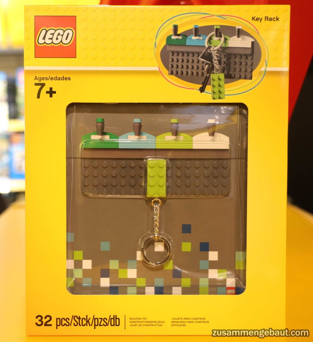 neues offizielles lego schlüsselbrett mit schlüsselanhänger