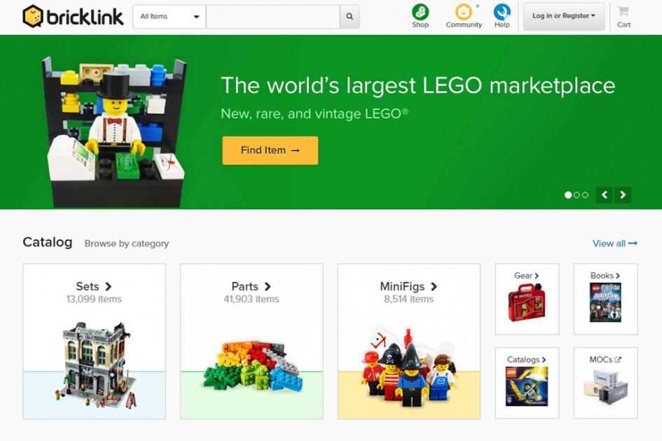 Vieles neu: bricklink.com | © BrickLink / Screenshot