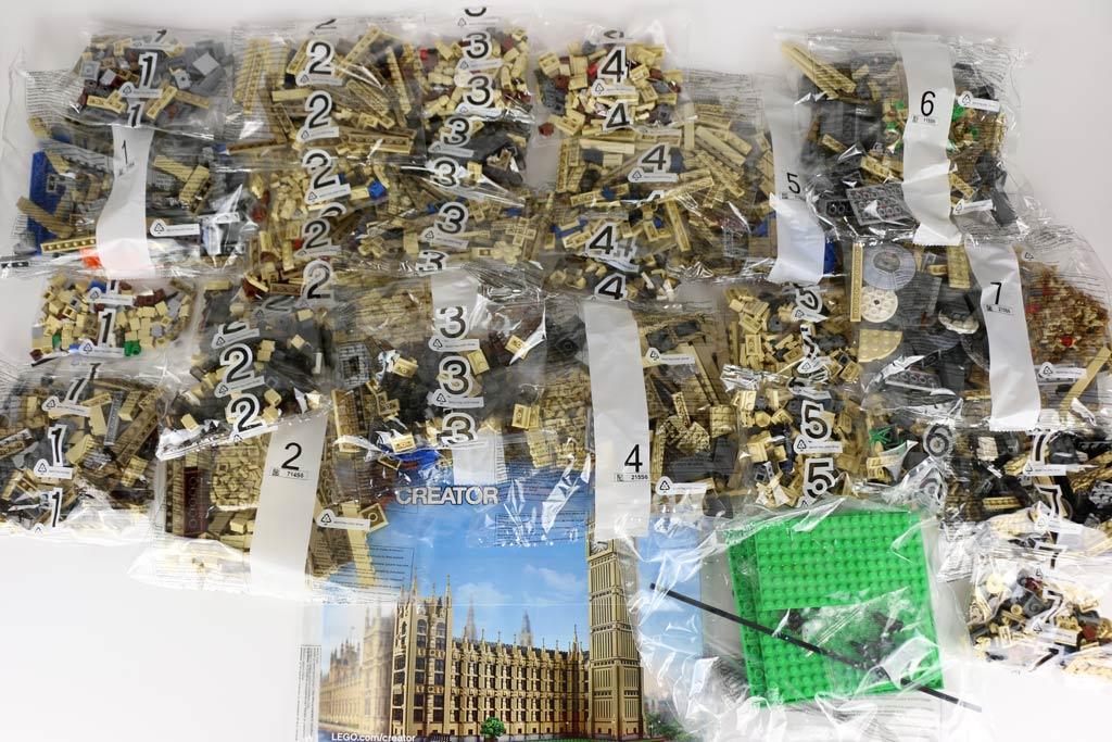 Aus all diesen Teilen entsteht der Lego Creator Expert Big Ben (10253)   © Andres Lehmann / zusammengebaut.com