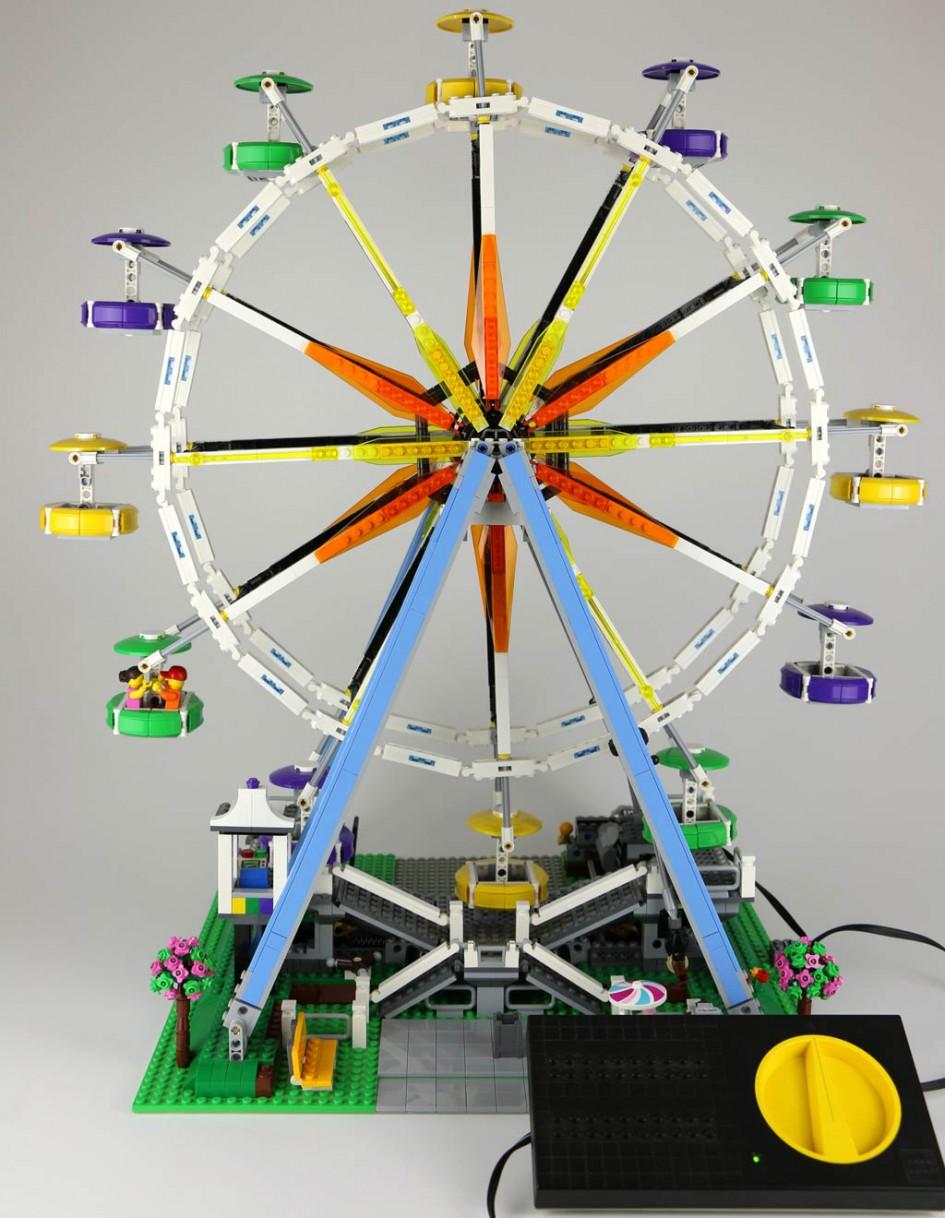 Lego Riesenrad 10247 Motorisierung Mit 9v Eisenbahn