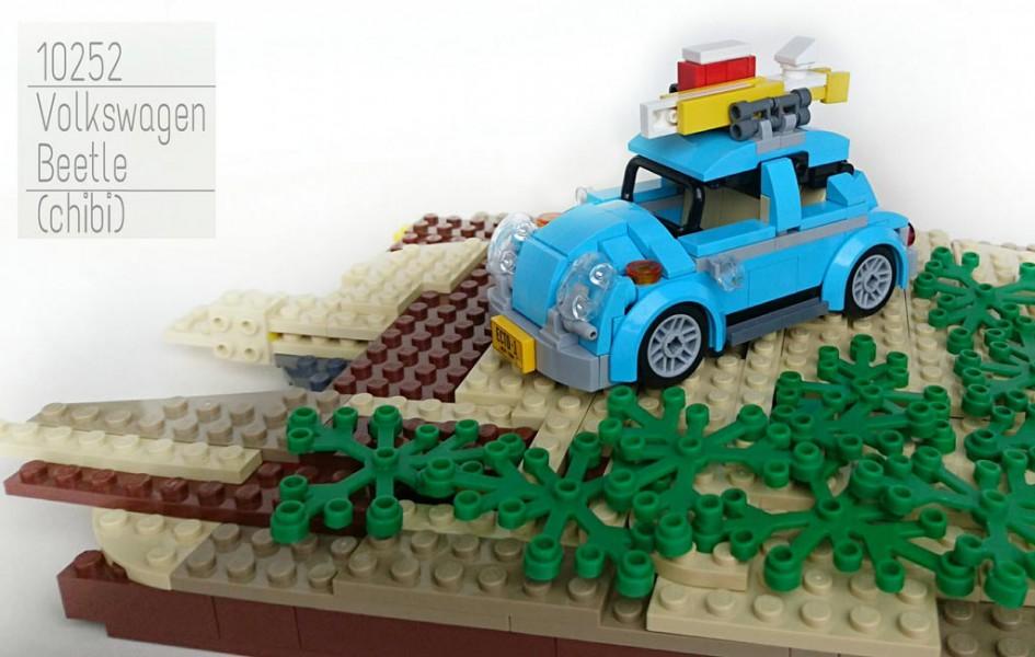 LEGO Creator Volkswagen Beetle (10252): Tiny version of it – MOC   zusammengebaut