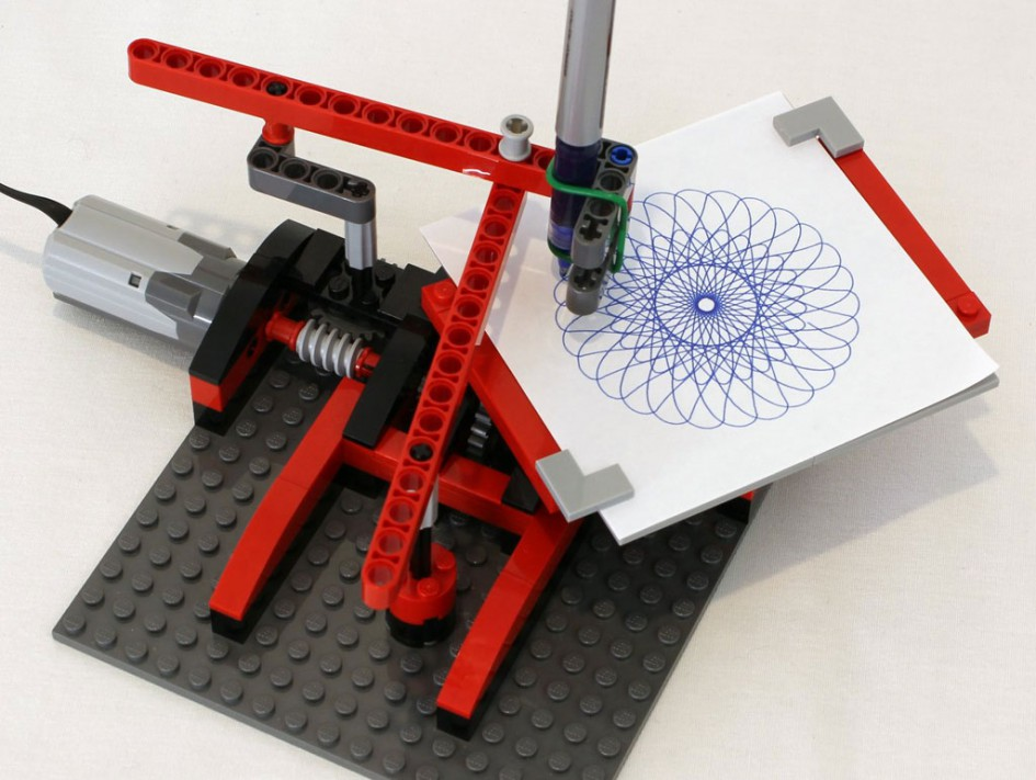 moc lego drawing machine spirograph von jk brickworks zusammengebaut. Black Bedroom Furniture Sets. Home Design Ideas