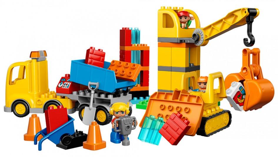 Construction Site Toys For Boys : Lego duplo große baustelle jetzt kommt der kran