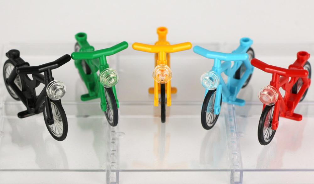NEU LEGO City Fahrrad rot mit Licht