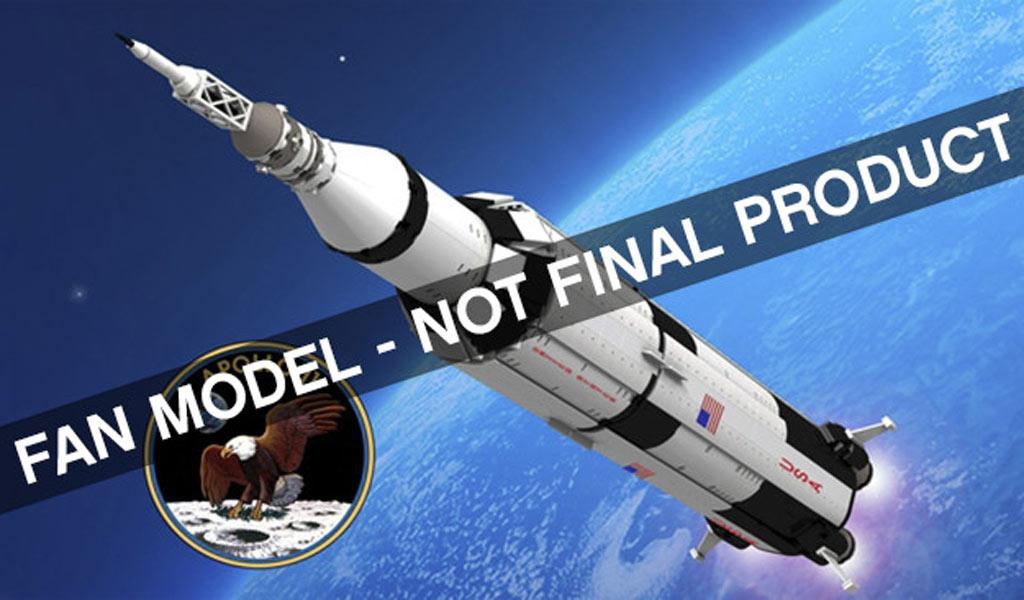 Hoch hinaus: Apollo 11 Saturn V   © LEGO Ideas