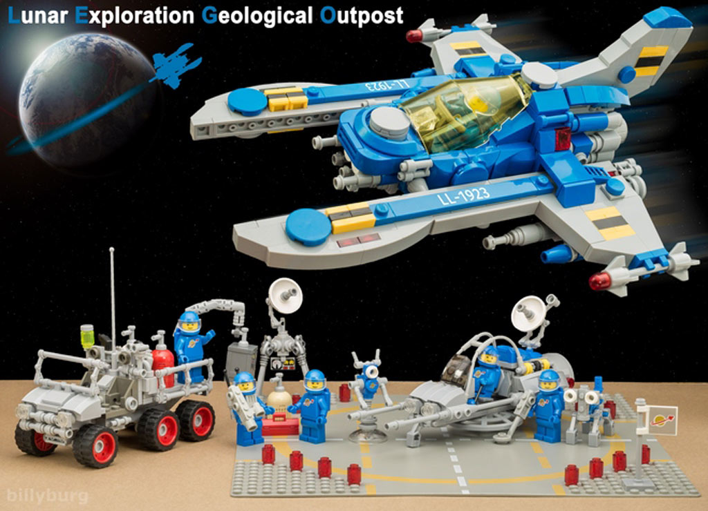Die gesamte Basis im Überblick | © Billy Burg / LEGO Ideas