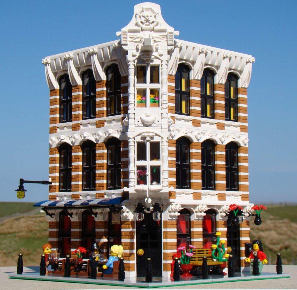 Lego Moc Modular Building A Dutch Bar Zusammengebaut