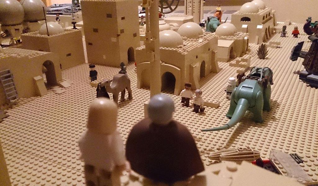 Kleiner Teil des LEGO Star Wars Tatooine Dioramas | © Nils Ackerhans
