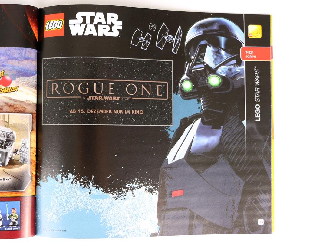 Hinweis auf die Rogue One Sets, die im Katalog noch nicht auftauchen. | © zusammengebaut.com