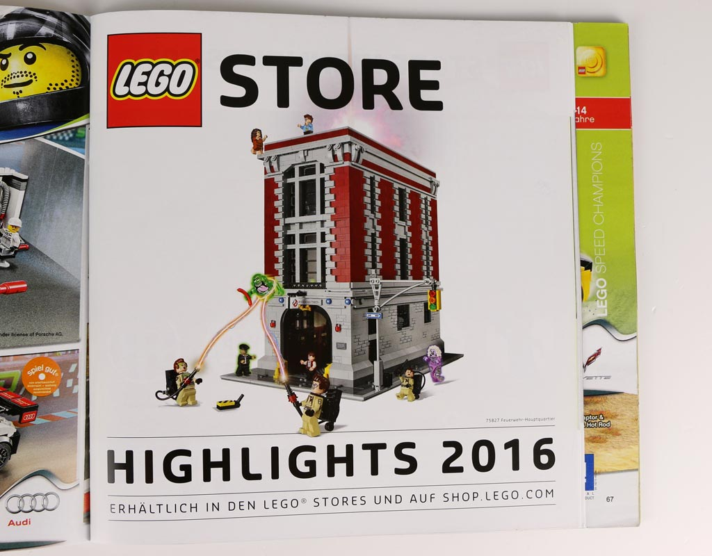 Wer den neuen LEGO Katalog im Store mitnimmt, der freut sich auf die Extra-Beilage | © zusammengebaut.com