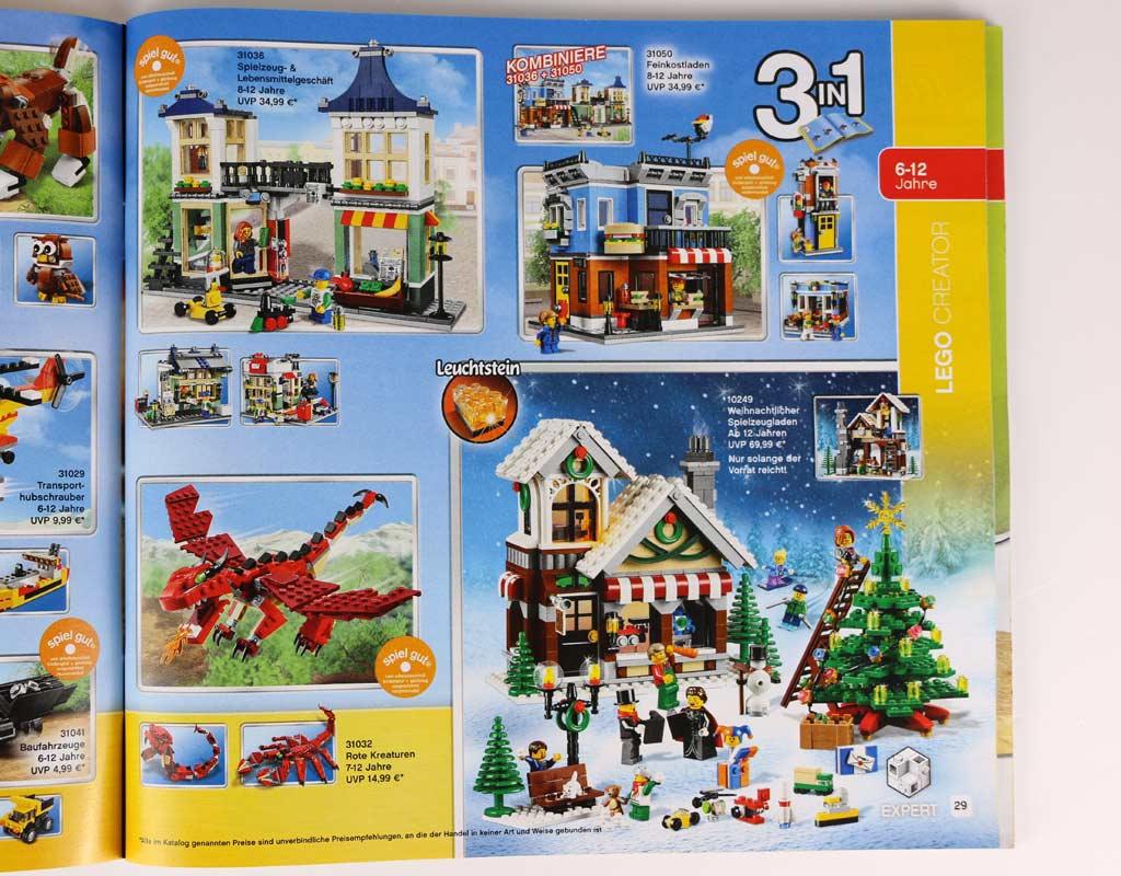 Neuauflage Weihnachtlicher Spielzeugladen: Das exklusive Set ist nun überall erhältlich. | © zusammengebaut.com